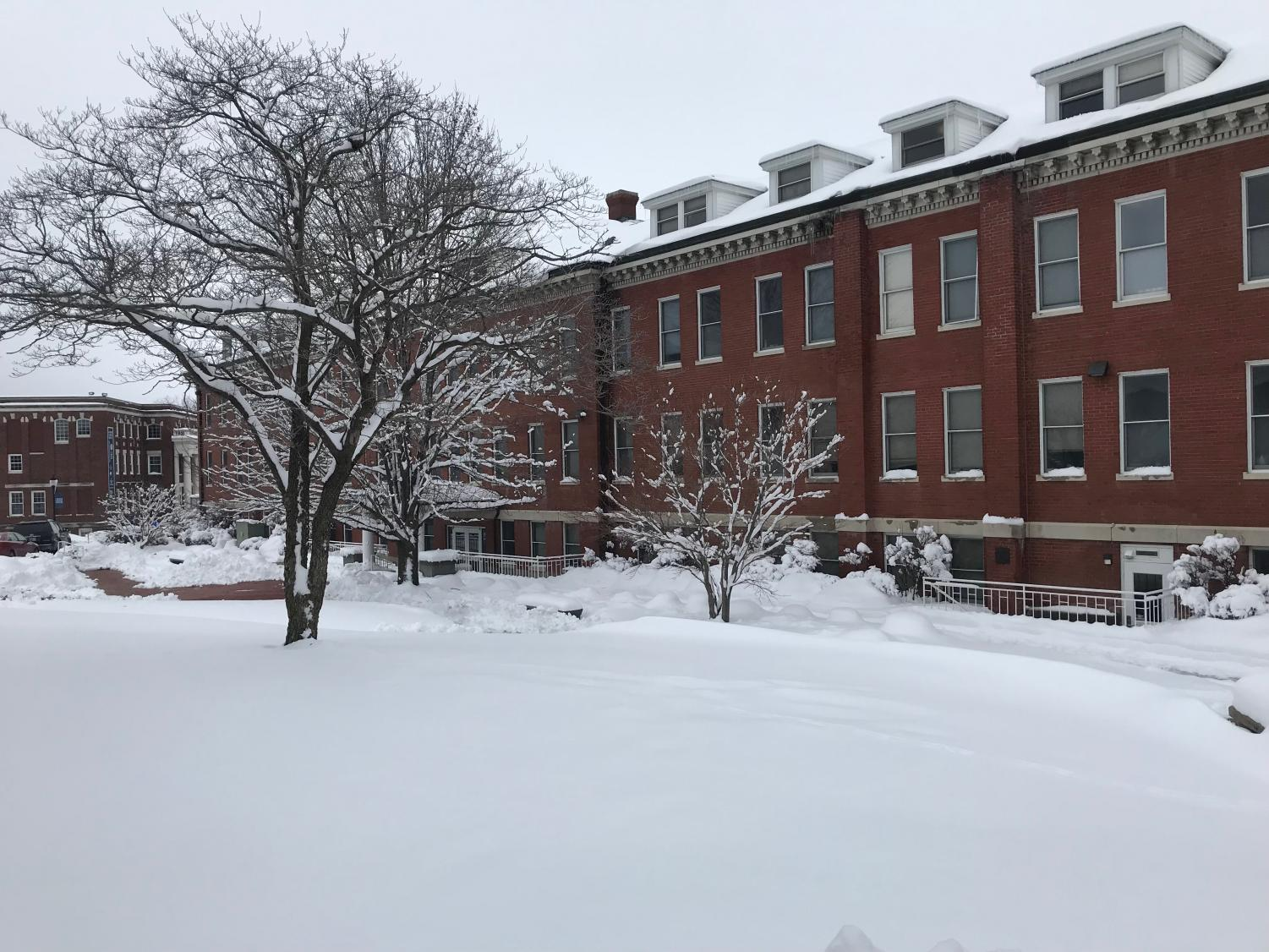 A snow day on Culver-Stockton College campus.