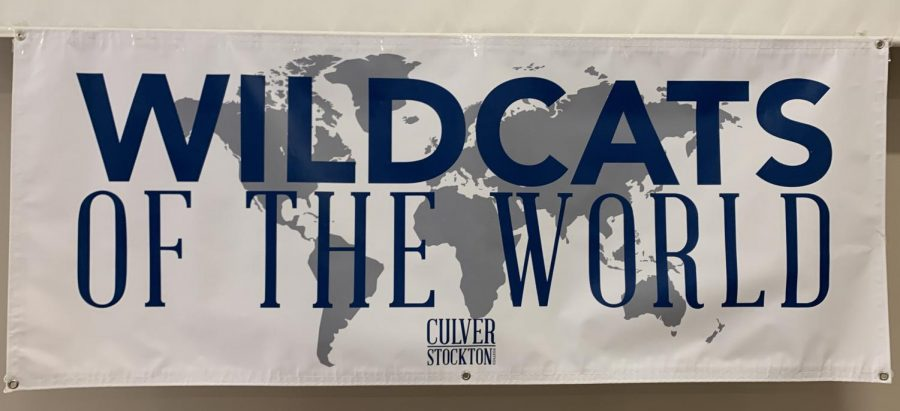 Wildcats+Of+The+World+sign+at+the+Travel+Study+Fair.