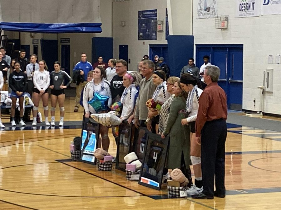 Women's Volleyball Seniors Being Recognized