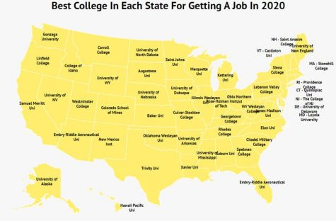 Best Colleges for Jobs (courtesy Zippia.com)
