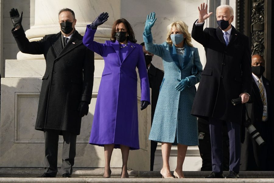 The new president and vice president, along with their spouses. Photo credits to people.com.