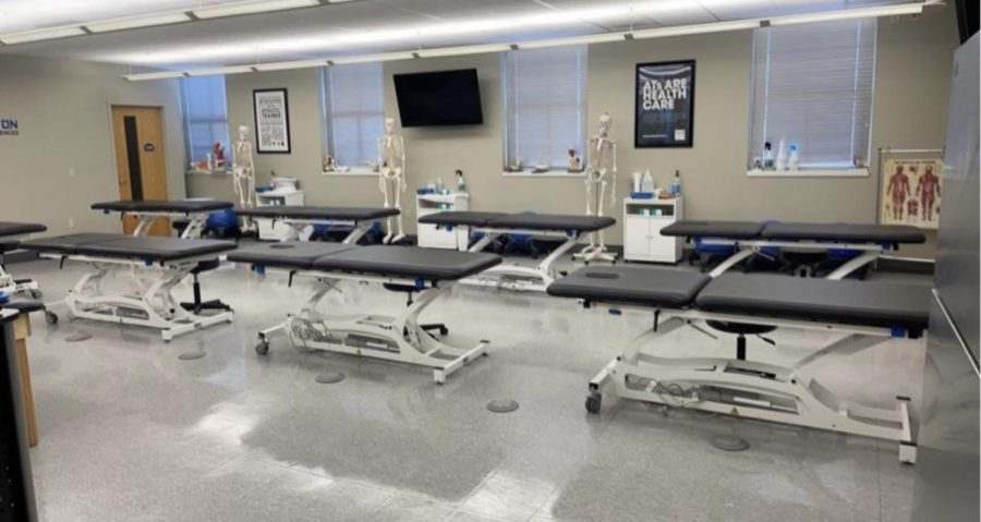 Athletic Training Classroom located in the Science Center.