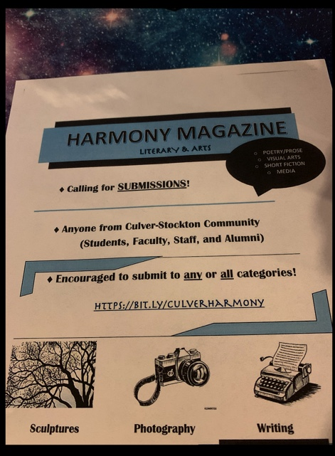 "Last Call for ""Harmony"" Submissions"