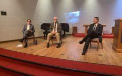 Panel members speak with the C-SC community